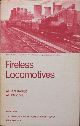 Image for FIRELESS LOCOMOTIVES