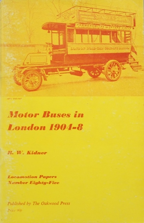 Image for MOTOR BUSES IN LONDON 1904-8