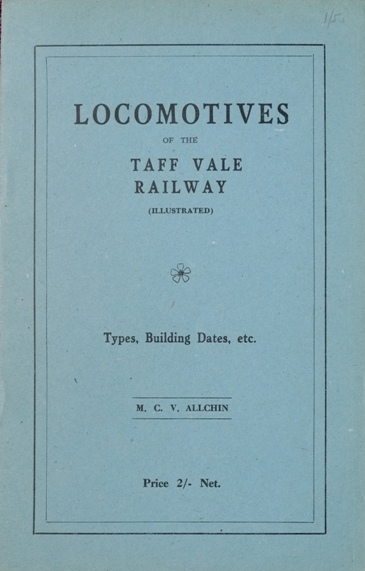 Image for LOCOMOTIVES OF THE TAFF VALE RAILWAY
