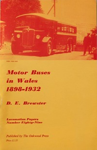 Image for MOTOR BUSES IN WALES 1898 - 1932