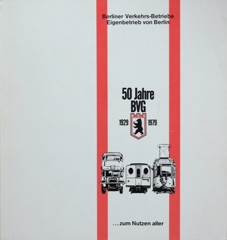 Image for 50 JAHRE BVG 1929 - 1979