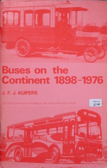 Image for BUSES ON THE CONTINENT 1898 - 1976