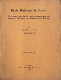Image for EARLY RAILWAYS IN SURREY