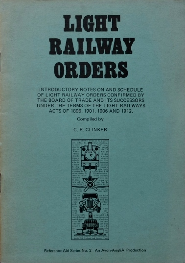 Image for LIGHT RAILWAY ORDERS