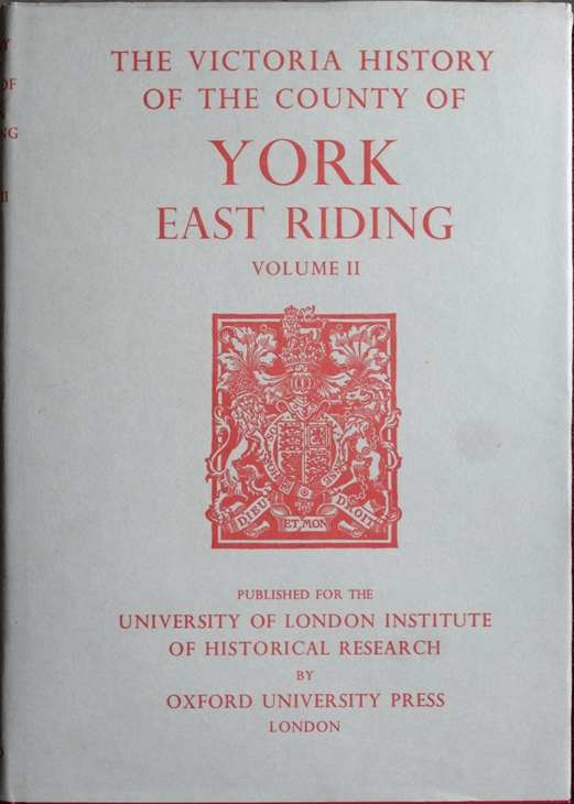 Image for A History of the County of York, East Riding : Volume II (Victoria County History)