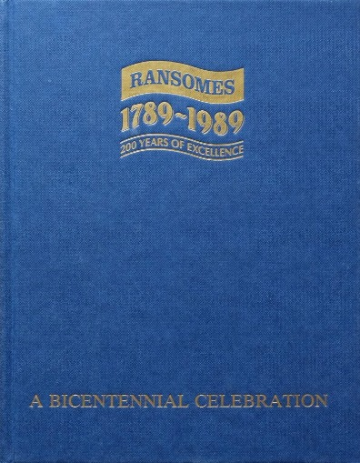 Image for Ransomes 1789-1989, 200 years of Excellence : a Bicentennial Celebration